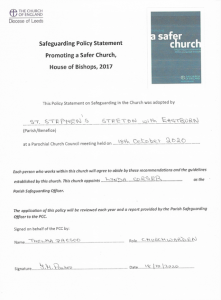 St Stephens Church Safeguarding Policy Statement 2020 Thumbnail